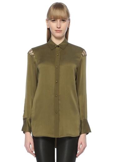 Rag&Bone File Detaylı İpek Gömlek Yeşil
